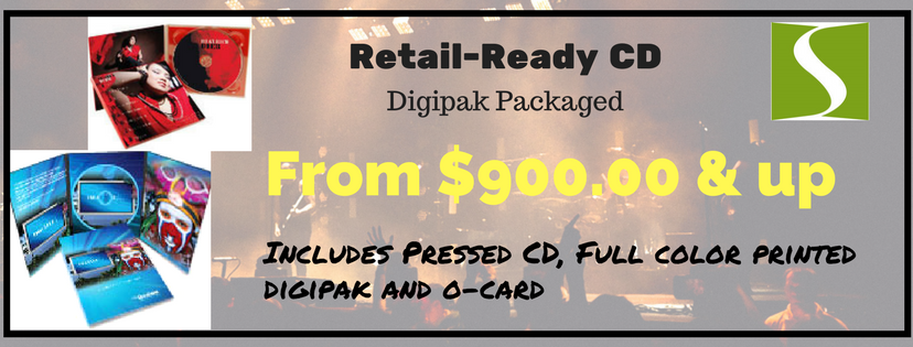 $900 and Up for Retail-Ready CD in Digipak AND Professionally Printed O-Card